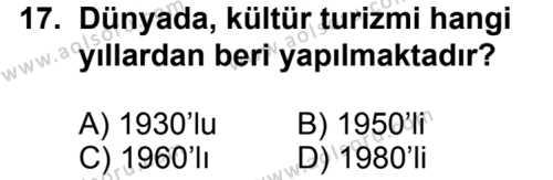 Turizm 2 Dersi 2013-2014 Yılı 1. Dönem Sınavı 17. Soru