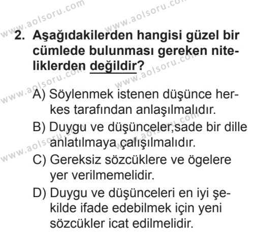 Türk Edebiyatı 1 Dersi 2017 - 2018 Yılı 3. Dönem Sınavı 2. Soru
