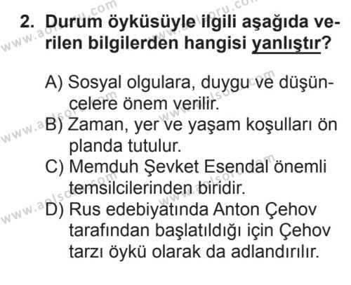 Türk Edebiyatı 2 Dersi 2016 - 2017 Yılı Ek Sınav Soruları 2. Soru