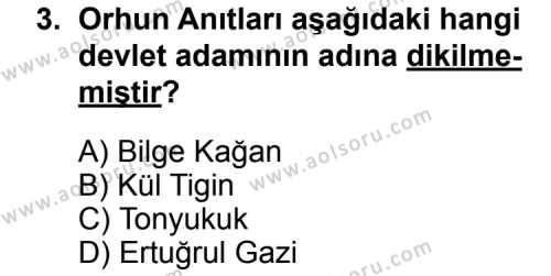 Türk Edebiyatı 3 Dersi 2014 - 2015 Yılı Ek Sınav Soruları 3. Soru