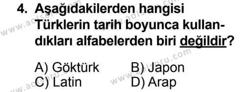 Türk Edebiyatı 3 Dersi 2014 - 2015 Yılı Ek Sınav Soruları 4. Soru