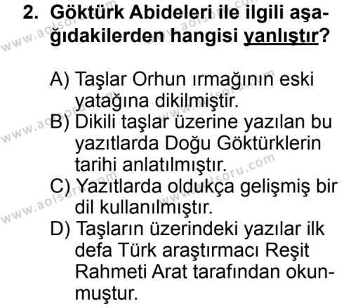 Türk Edebiyatı 3 Dersi 2015-2016 Yılı 1. Dönem Sınavı 2. Soru