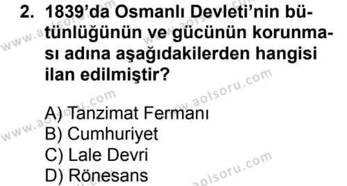 Türk Edebiyatı 5 Dersi 2017 - 2018 Yılı Ek Sınavı 2. Soru