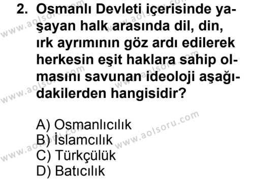 Türk Edebiyatı 6 Dersi 2013 - 2014 Yılı 3. Dönem Sınav Soruları 2. Soru